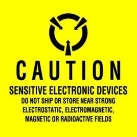 #DL9100  4×4″  Sensitive Electronic Devices Label $13.91/piece