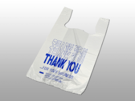 """""""Thank You"""" Pre-printed T-Shirt Bags 11 1/2×6 1/2×21 1/2″ (1000/case) $37.26/piece"""