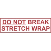 2″x1000 yds. 2.0 Mil Do Not Break Stretch Wrap Pre-Printed Carton Sealing Tape (6/Case) $189.98/piece
