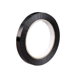 1″x60 yds. 2.7 mil Black 94 lbs. Tensile Strength Tensilized Polypropylene Strapping Tape (72/Case) $157.37/piece