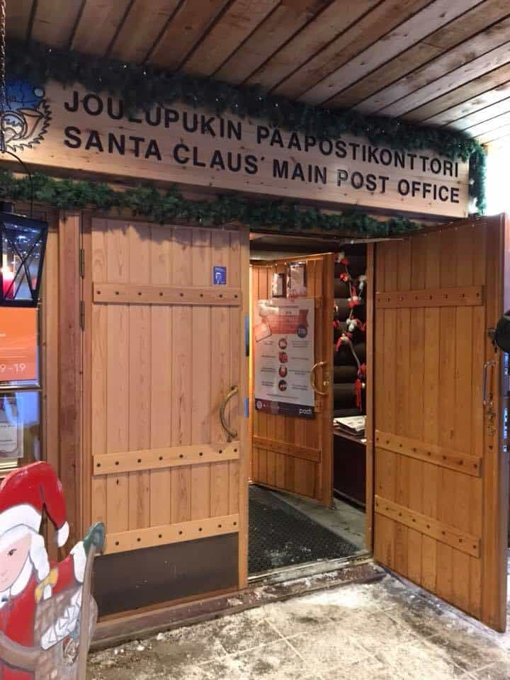 Entrance to the Santa Claus Village Post Office