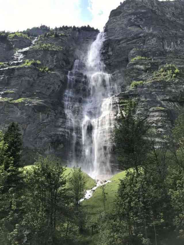 Watterfall walking distance from the Stechelberg Valley Station