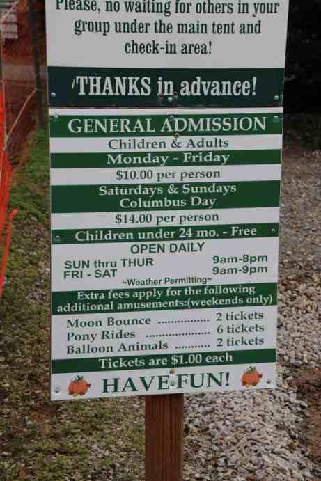 Burke Nursery Pumpkin Playground Virginia Ticket Pricing