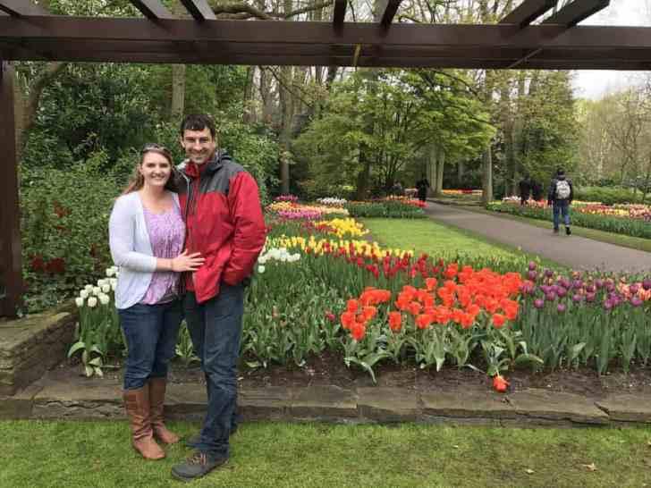 Keukenhof tulip garden amsterdam
