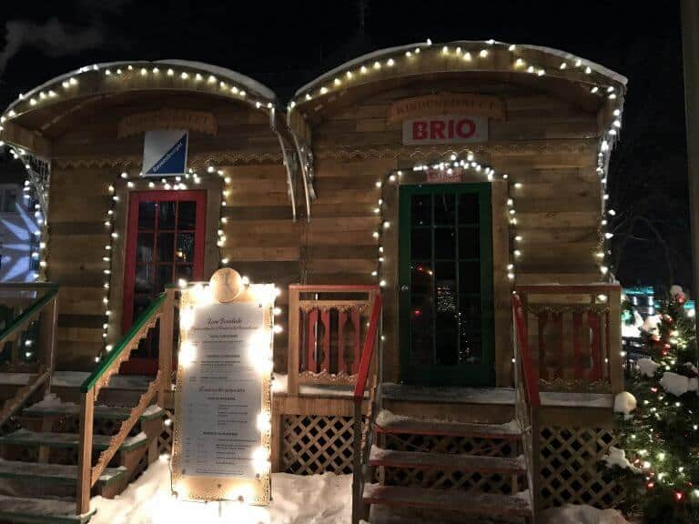 Children's area in the Quebec CIty German Christmas market