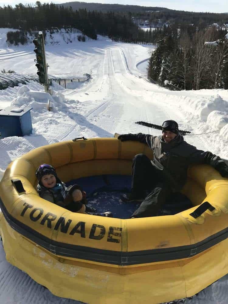 Village Vacances Valcartier Quebec, Canada snow park tornado tubins