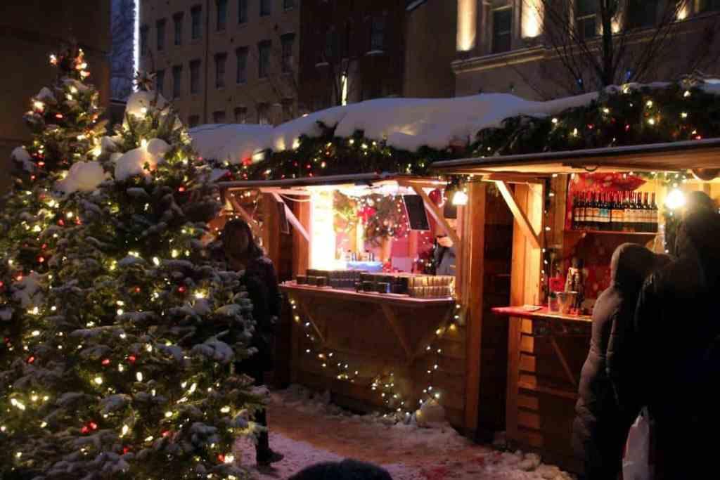 Old Quebec City Christmas Market Canada