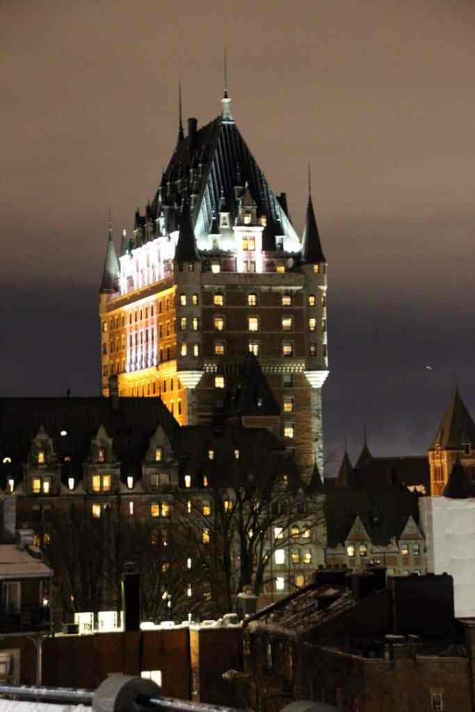 Château Frontenac during the winter snow