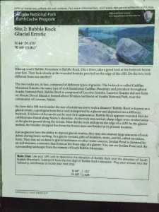 Earthcache in Acadia National Park