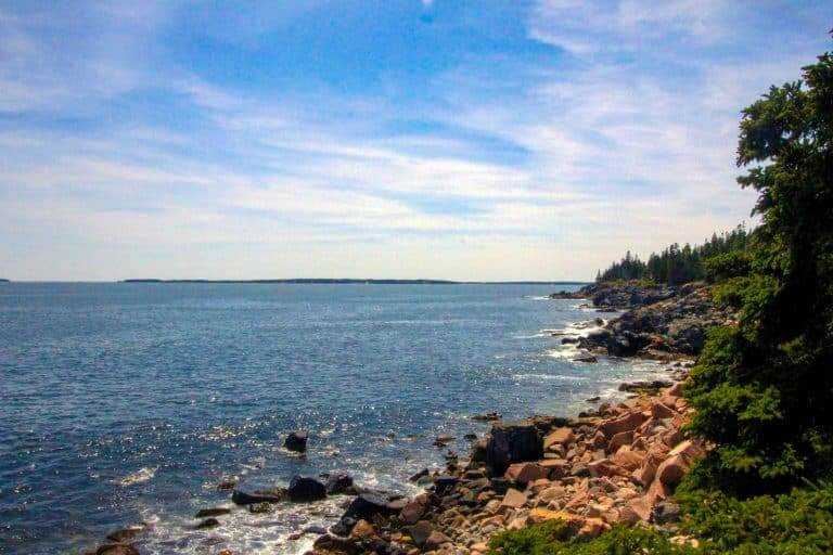 Views out from the Ocean Path Trail in Acadia National Park in Maine