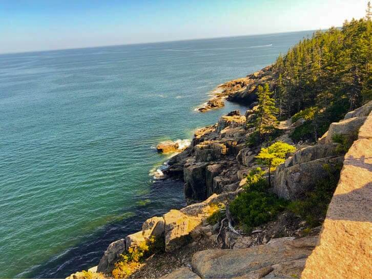 View from Otter Cliff in Acadia National Park in Maine