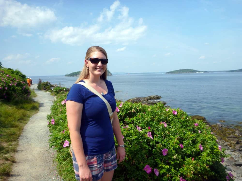 Bar Harbor, Maine exploring the Ocean Trail
