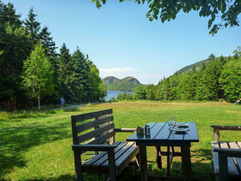 The View from Jordan Pond House in Acadia National Park