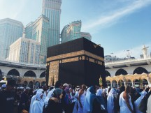 The Kaabah close up while making our tawaf around it