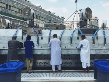 Drinking and zam zam water points can be found in every corner of the Masjidil Haram