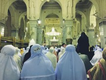 Interiors of Masjid Haram in Mecca