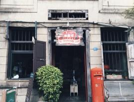 A hidden gem - a postcard shop filled with scenes of Penang
