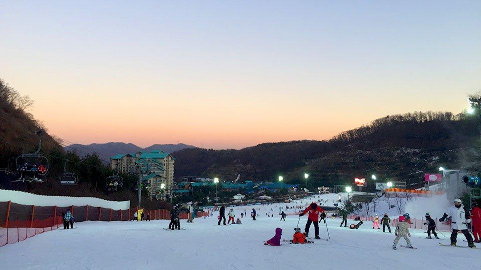 韓國滑雪去 過一個白色聖誕節