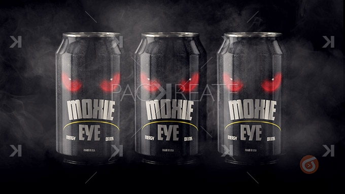 Packreate  Energy Drink PSD Full Project Mockup