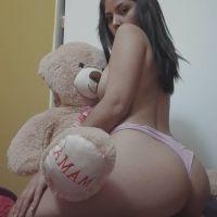 Mexicana Antonela. Esta chica necesita unas buenas nalgadas. [FULL Fotos+Videos].