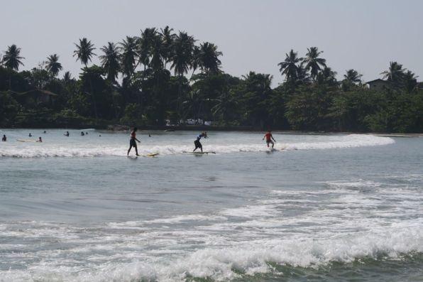 Surfing in Unawatuna