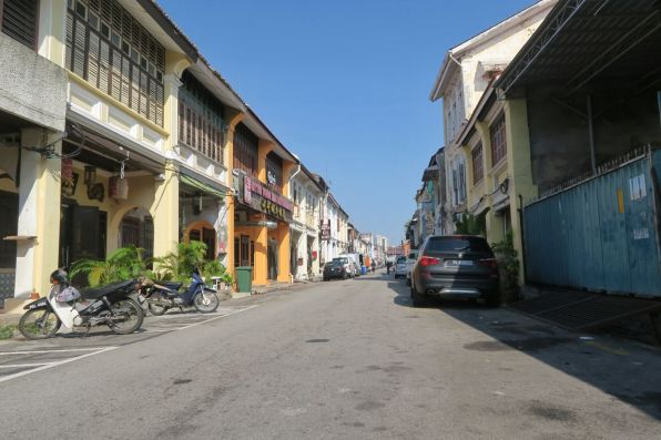 A typical street in old George Town