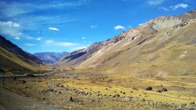 Alpine crossing from Santiago to Mendoza