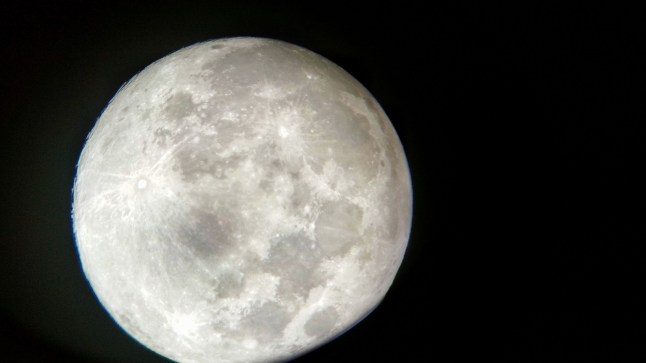 Moon photo with my phone through a telescope