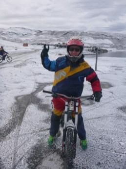 Snow at 5000m altitude