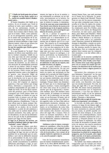 Paco Azorín en la Revista Scherzo. Oct 2015. 2