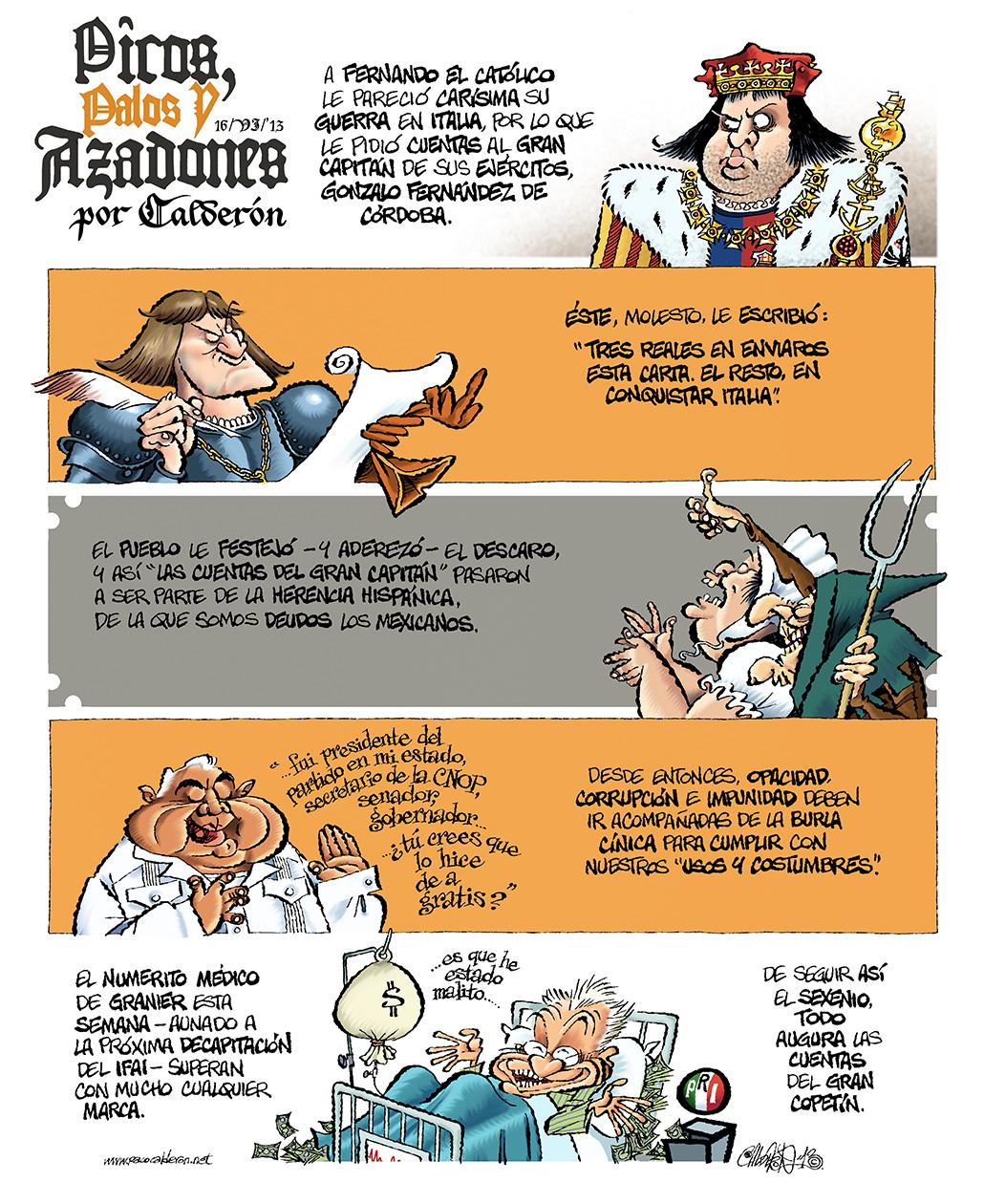 Picos, palas y azadones - Calderón