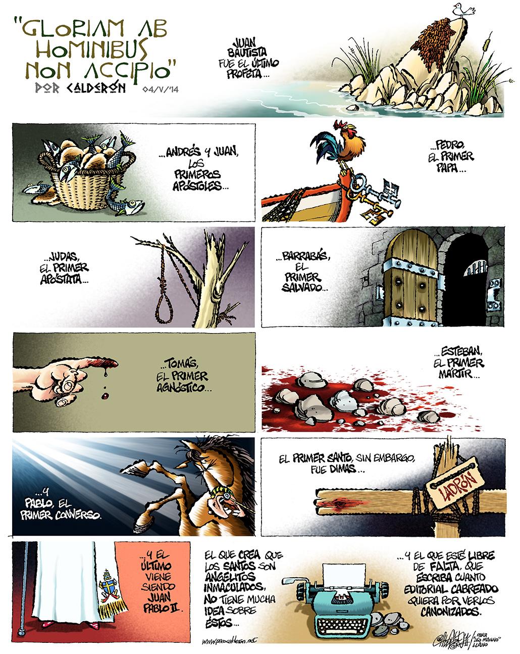 Gloriam ad hominibus non accipio - Calderón