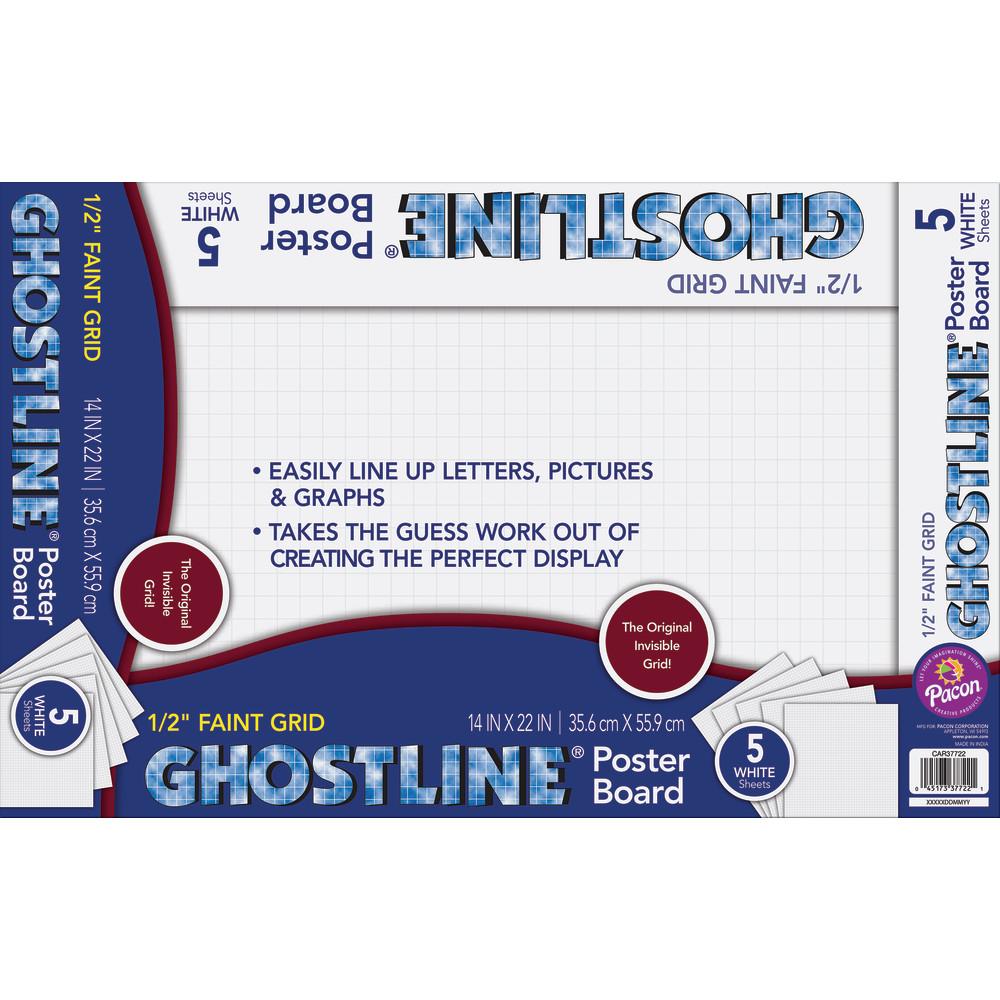 ghostline poster board pacon