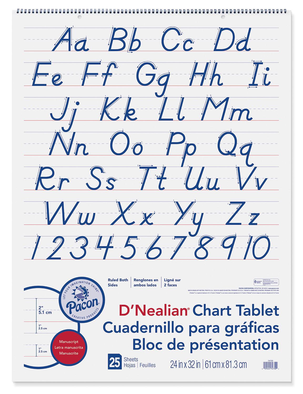 D Nealian Chart Tablet