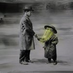 The-Deal-(Oil-on-canvas.-40-x-50-cm.-2011)