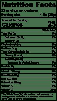 Nutrition Label Mango Puree 32oz