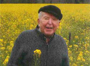 Dr. Rod Neale in a field of flowers