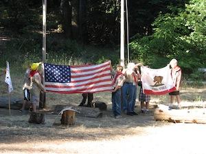 Boulder Creek Scout Reservation flag circle