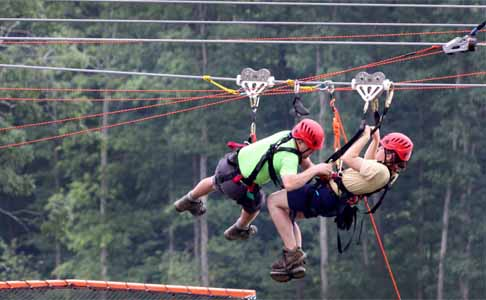 Zipliners at Summit Bechtel Reserve