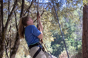 Callie prusik climbing