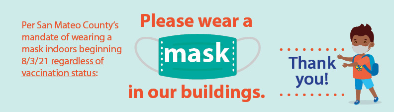 Please wear a mask whether you are vaccinated or not sign