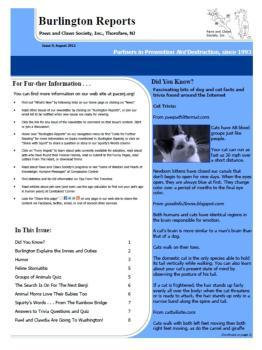 Burlington Reports - August 2012