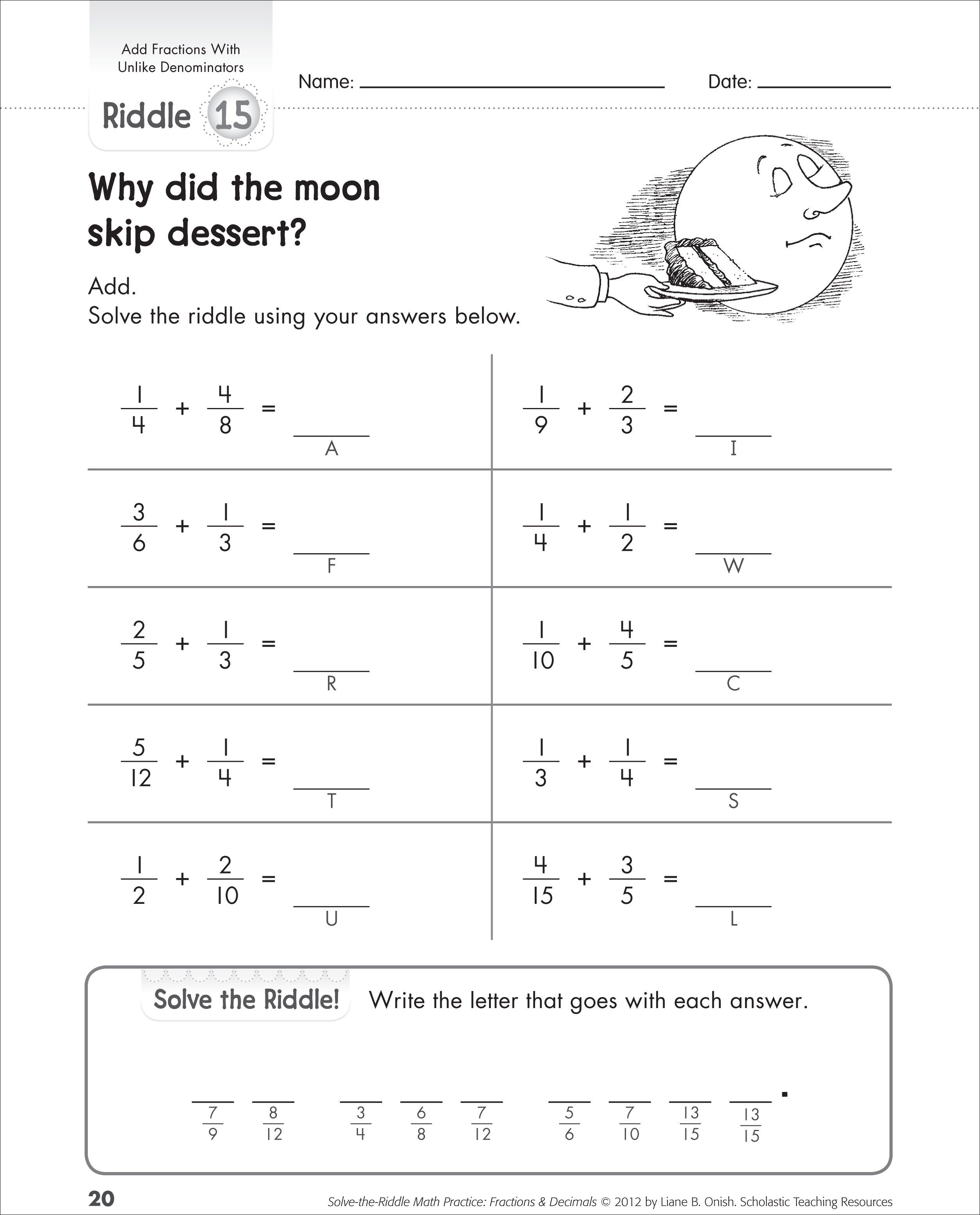 Math Worksheets Fractions Michael Jordan Was Cut From