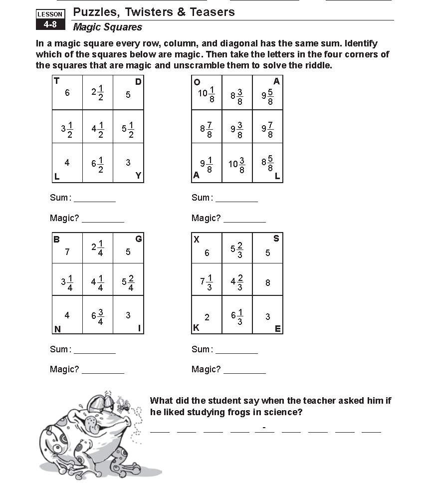hight resolution of Adding And Subtracting Fractions Homework Help; Grade 4- Adding \u0026 Subtracting  Fractions Guided Math by A