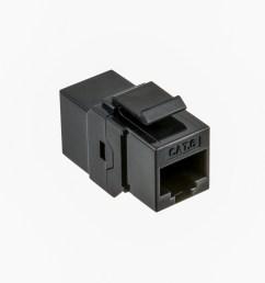 cat6 utp inline coupler keystone type black color [ 1420 x 1099 Pixel ]