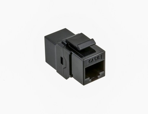 small resolution of cat6 utp inline coupler keystone type black color