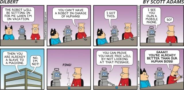 dilbert free will robot