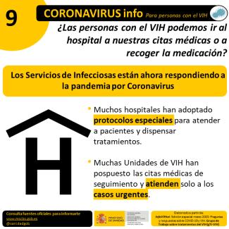 VIH_COVID19 Citas medicas y medicación