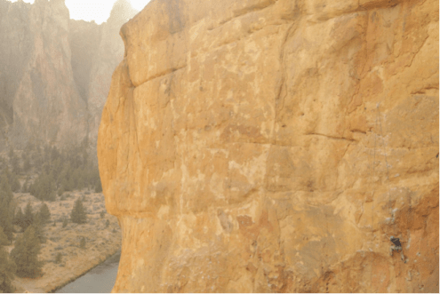 Bryce Fowler '17 on 5.10c route Walking While Intoxicated