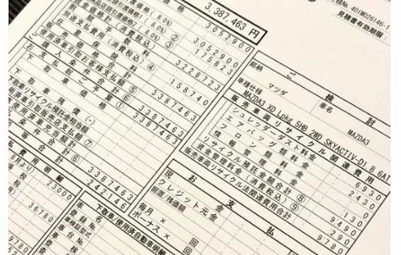 新型マツダ3お見積書公開